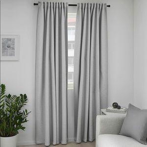 Gray IKEA blackout curtains.  Set of 2 panels